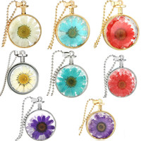2017 NEW Crystal Glass Dried Round Locket Necklace Aromather...