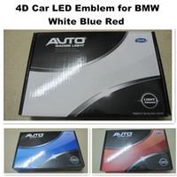 4D 12V Forbm-W светодиодный логотип 82 мм белый синий красный автомобиль светодиодные значки задние эмблемы