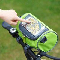 Vente chaude Imperméable À L'eau Vélo Sport Vélo Accessoires Bicycle Frame Pannier Avant Tube Sac De Mode Poignée Bar Sacs