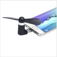 ميني مايكرو USB مروحة للهاتف المحمول للهاتف أندرويد Samsung HTC LG Iphone Opp bag pacakge