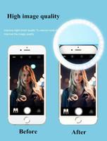 Vente chaude LED Selfie Lights RK12 Téléphone portable Night Out Lampe Objectif Selfie Anneau Beauté Clip Améliorer La Qualité De L'image Pour iphone 7 7plus Samsung
