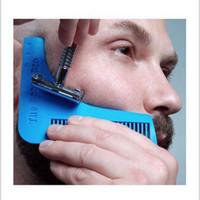 Herramientas para moldear la barba Plantilla de formas fáciles La línea del cuello Panes Modelador Formas de vello facial Modelado fresco Peine Cepillo Bolso Opp