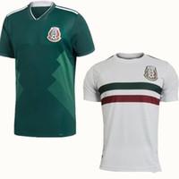 3242facfe 2018 Copa del Mundo México Jersey Inicio Verde G.DOS SANTOS 14 CHICHARITO J.