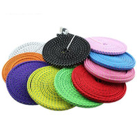 10FT 6ft 3FT Noodle Flat Braid Charging Cord Sync Fabric TYP...