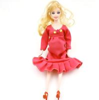 Горячей Продажа Обучающего Real беременной куклы костюмы мама куклы есть ребенок в животике для Барби девочка игрушки Самого лучшего подарок высокого качества