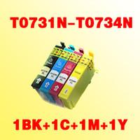 4x cartouche d'encre compatible T0731N T0734N pour imprimante epson TX400 TX105 TX115 TX300F TX600F