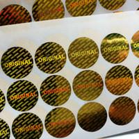 500pcs oro originale ologramma etichette di sicurezza Tamper Evident Sticker spedizione gratuita