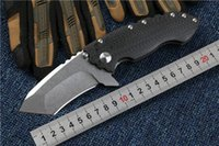 Direware Solo V2 Carbon Fiber Tactical Folding Knife D2 Blad...