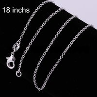 10 100 pcs Lowest Price 925 Sterling Silver Rolo Chain Neckl...