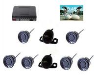 자동차 비디오 주차 센서 2 전면 4 후면 비비 사운드 TFT LCD DVD 백미러 미러 모니터 PZ600-6 무료 DHL