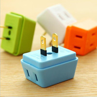Portable Electrical Outlet Wall Plug Travel Power Strip Trip...