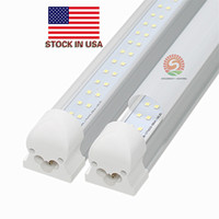 Plug and play Filas simples / dobles T8 Luces de tubo led de 4 pies 8 pies integradas LEDs Bombillas led Tubos Lúmenes altos AC110-240V