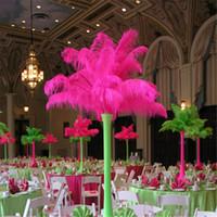 9 цветов DIY страусовых перьев плюм Центральным для свадьбы украшение стола, свадебные украшения 2017 горячий продавать 15-20см