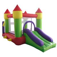 Oxford indoor material Residencial inflável salto Bouncy Casa gonflable Bouncer Castelo Combo com Slide para crianças