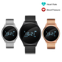 M7 HR BP Montre tactile cardiofréquencemètre cardiofréquenque 0.96 '' OLED Round Touch Screen Sports Tracker SmartWatch Wristband PK K88H