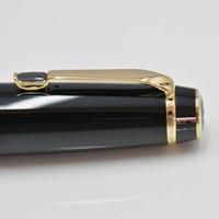 هدية الأسود الراتنج الأسطوانة الكرة القلم أنيقة والأثاث الأزياء القلم مع قلم حبر جاف الماس عشوائي