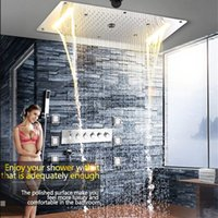 New LED Concealed Shower Thermostatic Faucets SUS304 With Em...