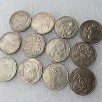 호보 니켈 혼합 날짜 13pcs 1937-D 3 각형 버팔로 니켈 희귀 수퍼맨 재밌는 복사 동전