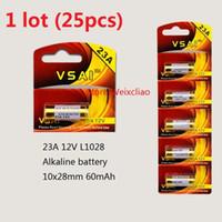 25 قطع 1 وحدة 23a 12 فولت 23A12V 12v23a L1028 بطارية قلوية جافة 12 فولت بطاريات بطاقة vsai مجانية
