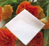 Pañuelos blancos puros 100% pañuelos de algodón Mujer Hombre 41cm * 41cm Pañuelos cuadrado de boda estampado DIY Dibujar Hankie