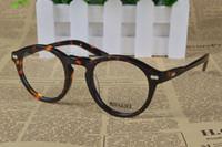 HOT SALE-2017 패션 레트로 빈티지 브랜드 mottzen johnny depp 처방전 안경 광학 안경 광경 프레임 남성 안경
