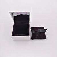 정통 백서 박스 블랙 베개 판도라 스타일 쥬얼리 매력에 대한 포장 안에 비즈 무라노