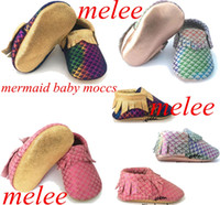 mermaid baby moccs shoes moccasins kids leather walking shoe...