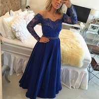 Sexy Off The Shoulder A Line Evening Prom Dresses 2017 New A...