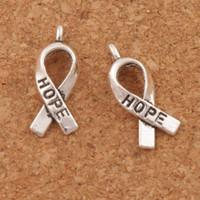 Consapevolezza speranza lega di metallo pendenti di fascini 150 pz / lotto 7.7x18.6mm pendenti in argento tibetano moda adattano bracciali collana orecchini l088