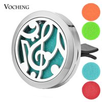 Car Aromatherapy Locket 316L Stainless Steel Pendant Car Air...