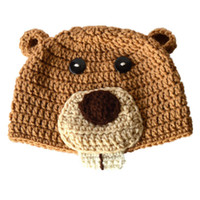 Novetly Woodland Animal Hat, Handmade Knit Crochet Baby Boy G...