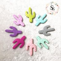 2017 Lot of 10 pcs new silicone cacti teether, siliconen pen...