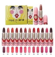 Free Shipping New Makeup Lipstick Matte Lip stick 24 Colors