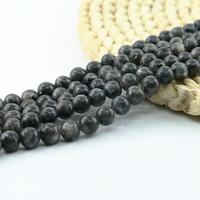 Doğal Siyah Labradorite Boncuk Yuvarlak Gevşek Taş Boncuk 4/6 / 8 / 10mm Full Strand 15 inç L0100 # Yapımı Takı için