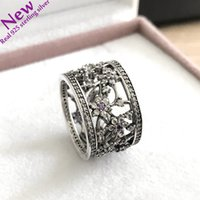 Hollow Out Flower Ring fit for pandora logo for Women Fashio...