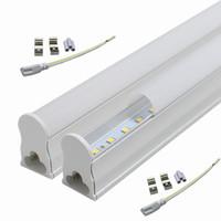 Nouvelle qualité T5 1ft 2ft 3ft 4ft 5 pi 6 pi 8 pi refroidisseur tubulaire LED intégré hautes lumières Led Lumens Tubes AC 110-240V Lumière