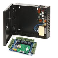 Panneau de contrôle d'accès TCP / IP 4 portes avec alimentation 220V à CC 12V Couleur Noir Alimentation 30-60W Boîtier pour système de contrôle d'accès