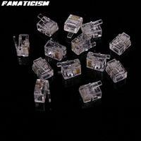 5000pcs / lotto L'alta Qulaity 6 Pin 4 Contatti RJ11 RJ11 Adattatore modulare Plug 6P4C 6P2C 6P6C Telefono Telefono connettore della scheda di testa di cristallo