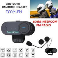 Vendite calde BT Casco moto Bluetooth Intercom Full Duplex Motor Talkie Ski Helmet Cuffie Radio FM