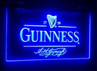 B91 Guinness Alec Arth cerveja bar pub club sinais 3d levou sinal de luz de néon home decor artesanato