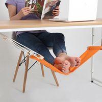 Hamac Sur Pied Mini Pieds Repose Pied Bureau Repose-Pied Hamac Hangmat Etude Table Pendre Loisirs Chaise Suspendue Orange
