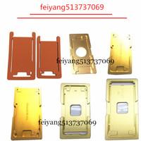 1 juego de moldes de aluminio de precisión para OCA máquina laminadora para el iphone 5 5s 5c 6 6s 6p 7p 6SP 7 Plus de cristal con el molde del marco Herramientas de reparación