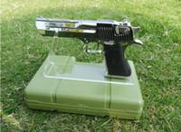 50 unids Shippiing boutique store Clear acrílico Pistolas al aire libre display holder arma modelo que muestra el estante del soporte de exhibición de arma