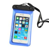2017 caja impermeable del teléfono celular del bolso seco del PVC de la caja para el iphone 7 más / 6s / 6 más / 5 SE para el teléfono móvil de Samsung