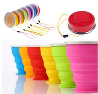 300pcs New Portable Silicone Retractable Folding Water Cup C...