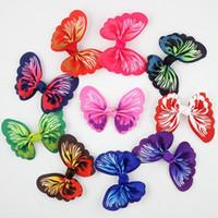 50pcs / lotto nuove ragazze delle clip di capelli della farfalla piegano il nastro dei capelli Barrettes dei capretti di festa delle ragazze regalo per i bambini l'accessorio dei capelli