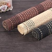 Doğal bambu fotoğraf backdrop 30 * 42 cm bambu dokuma mat takı kozmetik için arka plan olarak fotoğrafçılık 3 renkler siyah kahve ahşap