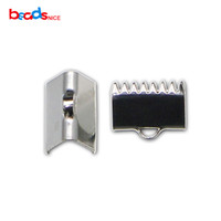 925 Sterling Silver Ribbon Crimp Ends Hanger Connector Ribbon Eindsluiting voor ketting Armband Connector ID36312