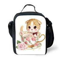 Cartoon Printing 3D Lunch Bags for Children Insulated Kids L...