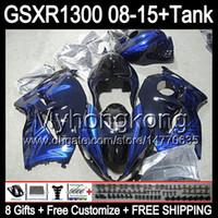 8gifts Pour SUZUKI Hayabusa GSXR1300 2008 2009 2010 2011 2011 Bleu brillant 14MY192 GSXR-1300 GSX R1300 GSXR 1300 2012 2013 2014 2015 bleu Carénage